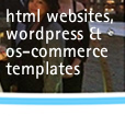 html & wordpress, online database & php os-commerce templates